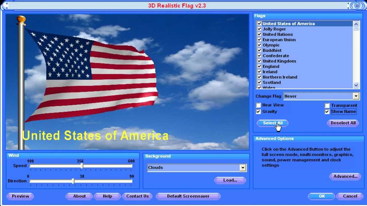 3D Realistic Flag Screensaver - Review
