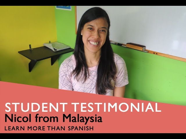 General Spanish Course Student Testimonial by @NicolDavid form Malasyia