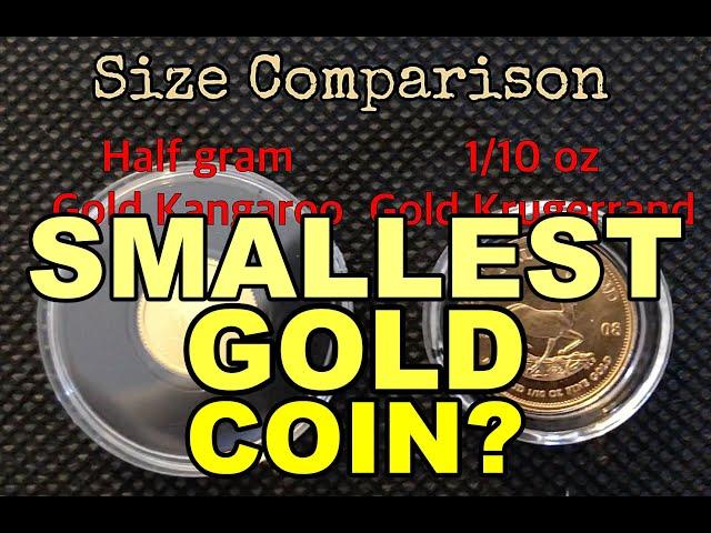 SMALLEST Gold Coin?- Half-gram Gold Kangaroo 2019