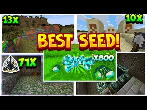 The Best Seed In Minecraft Console Edition 2019 !(Not Clickbait) Everything Mapped Out