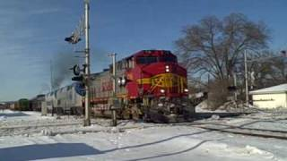 BNSF 716 Leads The Empire Builder Enroute to Chicago