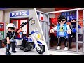 Bad Guy Escape From Police Station! Amusement Park is in Danger