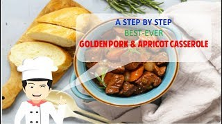 Best-Ever SPICY GOLDEN PORK AND APRICOT CASSEROLE