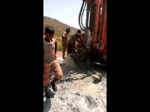 Bore well drilling (pressure of water)
