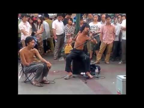 广州流浪艺人阿龙(Chinese Street Performer Alon)- 都是爱情惹得祸