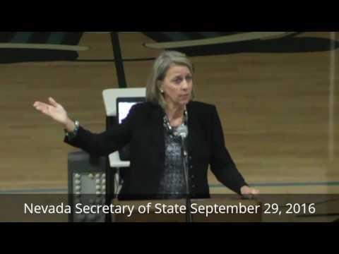 Nevada Secretary of State addresses Carson High School