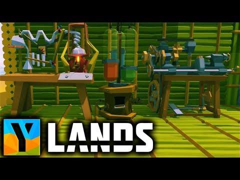Ylands - CHEMISTRY Station & LOCKSMITH Table (Drive Belt, Vice, Lab Burner)  Ylands Gameplay Part 10