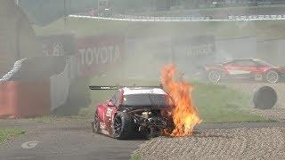 NSXも全損! ZENT LC500が大クラッシュ&炎上【SUPER GT Rd5 FUJI】