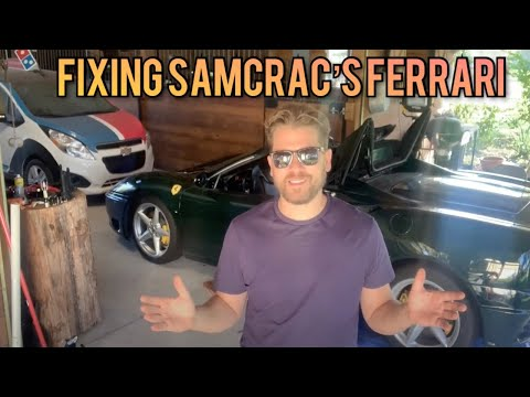 Flying 4500 Miles To Help Fix The SamCrac Ferrari 360