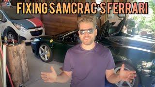 Flying 4500 Miles To Help Fix The SamCrac Ferrari 360