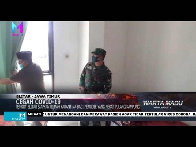 Pemkot Blitar siapkan rumah karantina bagi pemudik yang nekat pulang kampung