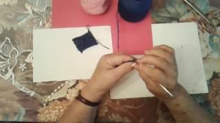 Вязание крючком. Прямое полотно