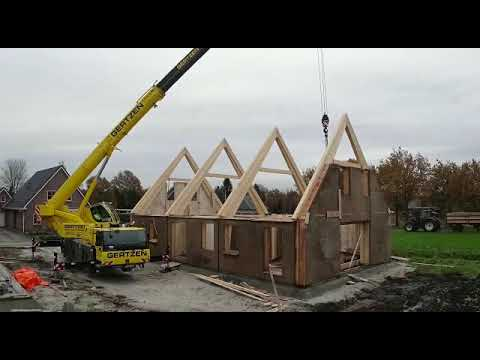 Hempcrete Panels in Action in Holland – built in 3 days – Dun Agro Hemp Group