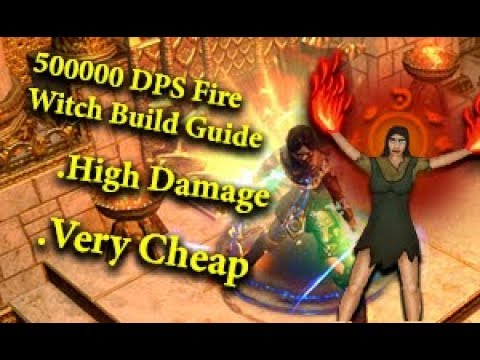 Path of Exile Fire witch Incinerate Build Guide( League Starter Build for  the Delve League)