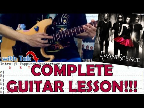 Call Me When You're Sober - Evanescence(Complete Guitar Lesson/Cover)with Chords and Tab