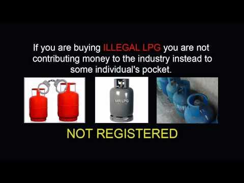 Unregistered Liquefied petroleum gas