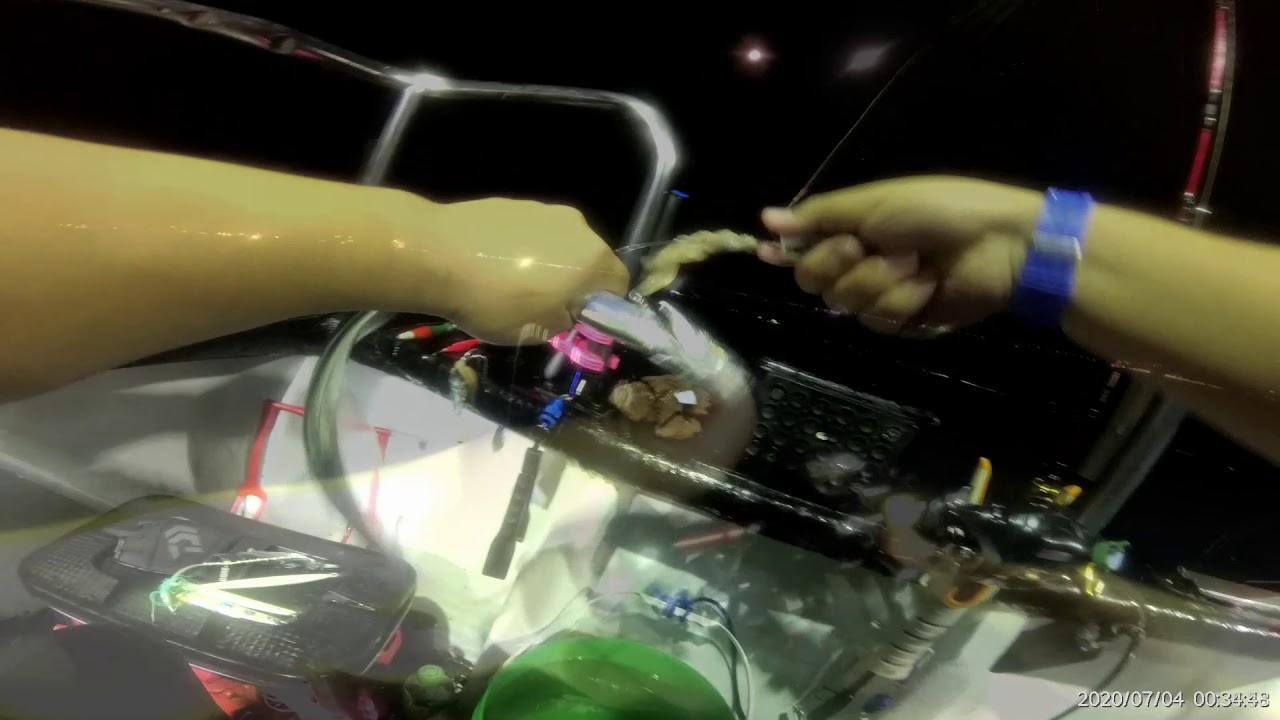 前半段天亞後半段鐵板白帶鉤 觀察朗餌誘魚吃餌訊號的不同處~~基隆嶼近海小搞搞2020.07.03