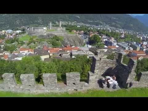 The three Medieval castles of Bellinzona