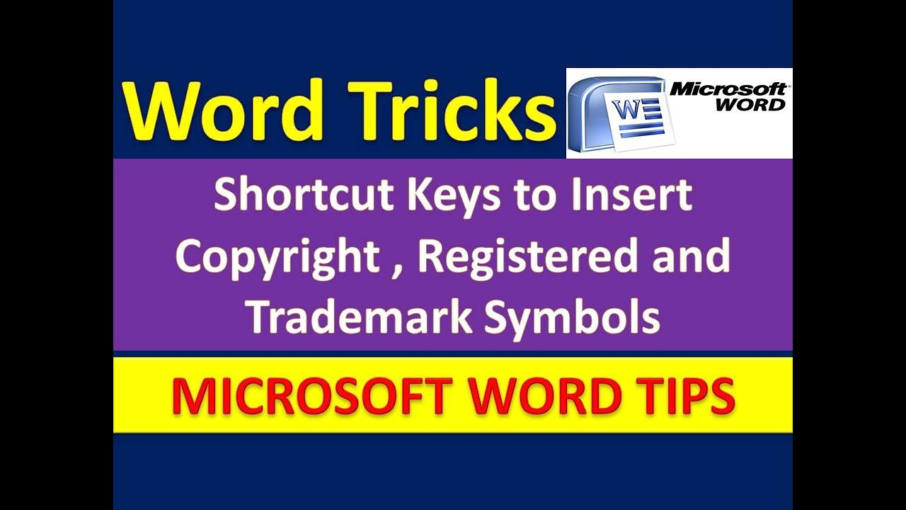 Shortcut keys to insert copyright registered trademark symbols shortcut keys to insert copyright registered trademark symbols in microsoft word urdu hindi biocorpaavc