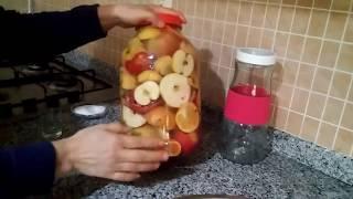 Karışık meyve sirkesi yapılışı