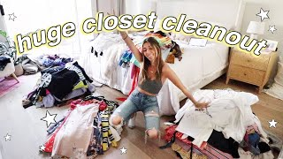 EXTREME closet declutter & clean for 2020!! *a nightmare*