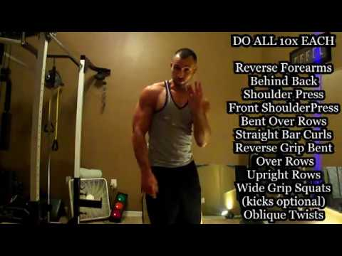 Total Body Straight Bar Workout