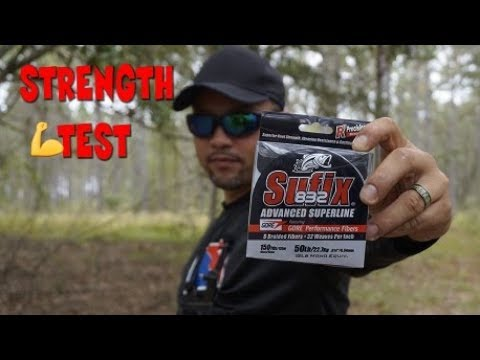 Sufix 832 Braided Line Strength Test (Surprising Results)