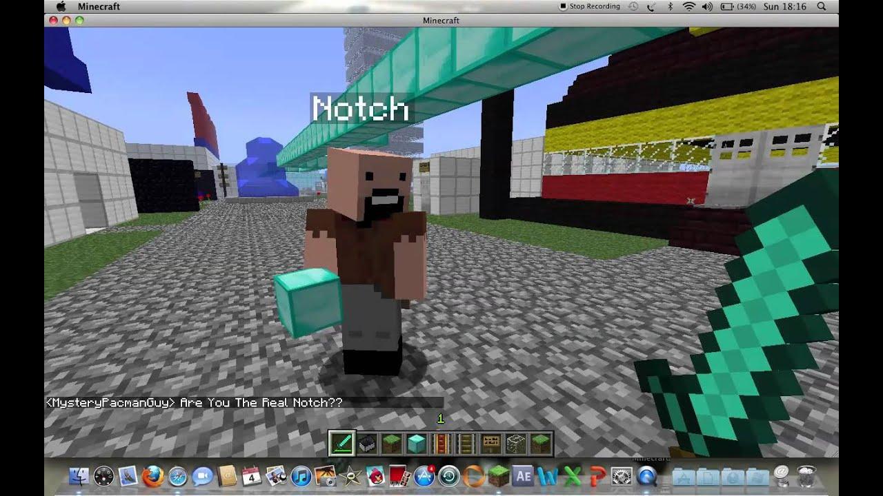 1.8 - I Met Notch On Minecraft!!!!! - YouTube