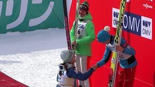 ❅ 2016.1.16  FIS  Ski Jumping World Cup Ladies Victory Ceremony  2016 スキージャンプ 女子 表彰式