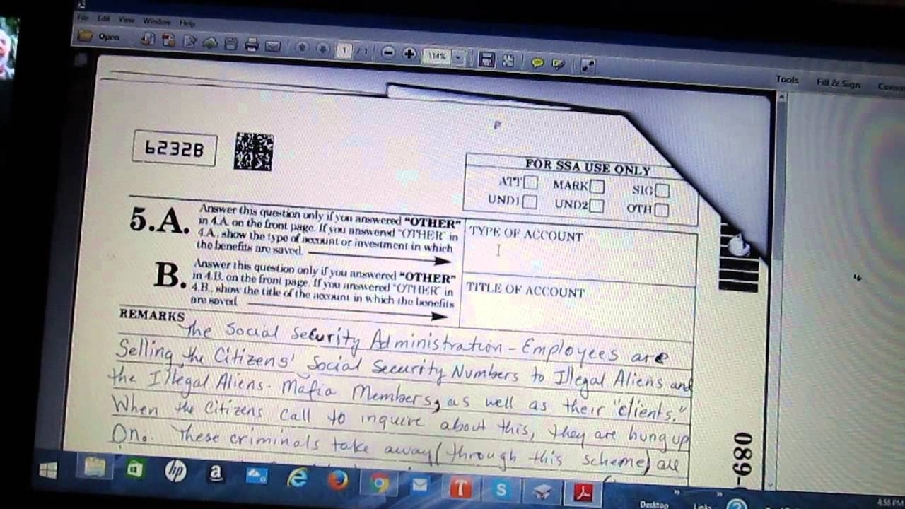 REPRESENTATIVE PAYEE FORM - YouTube