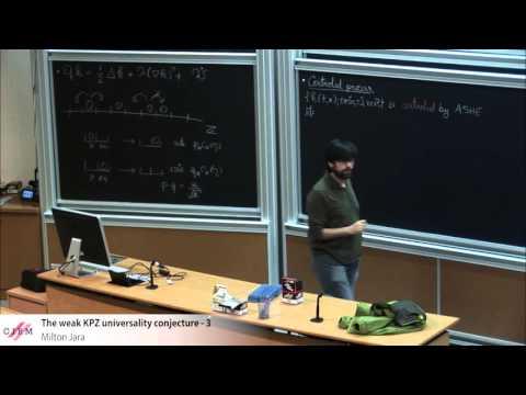 Milton Jara : The weak KPZ universality conjecture - 3
