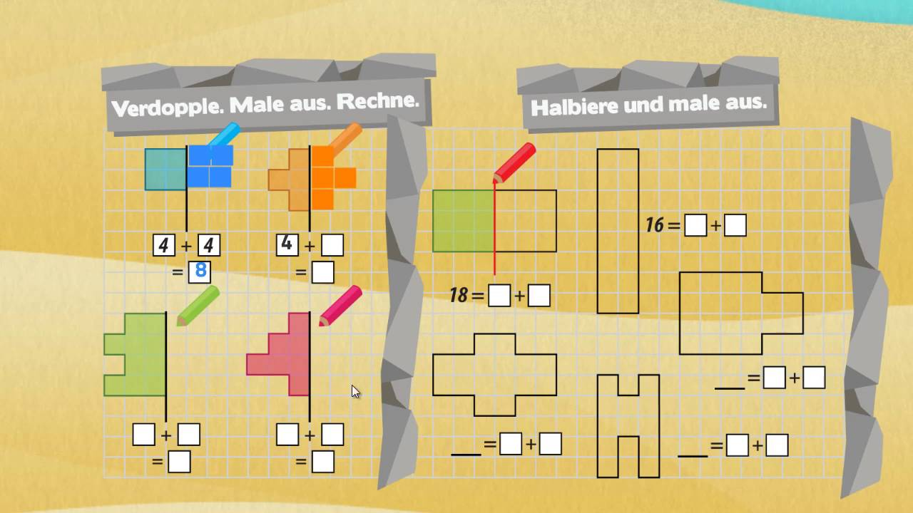 verdoppeln und halbieren mathematik klasse 1 youtube. Black Bedroom Furniture Sets. Home Design Ideas