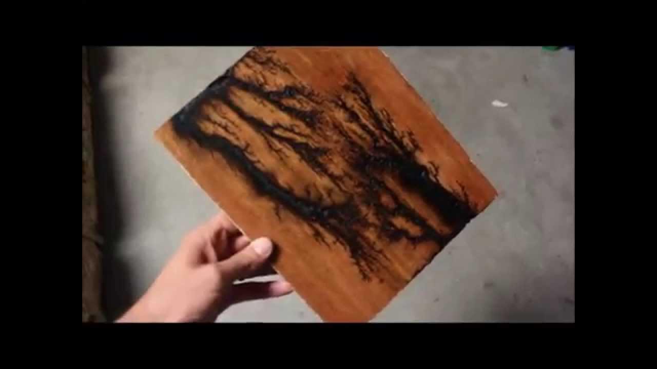 DIY Lightning Burned Wood  YouTube