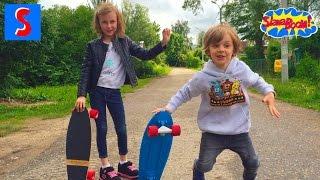 Скейтборды Penny и Mindless.Учимся кататься.Первые уроки катания на скейте и лонгборде