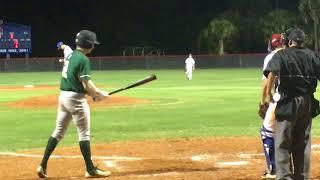 Kyle Barnowski on the mound vs Royal Palm Beach HS 2018
