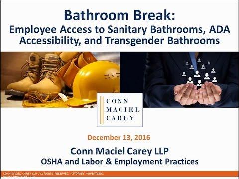 Bathroom Break Osha Bathroom Issues Ada Accessibility