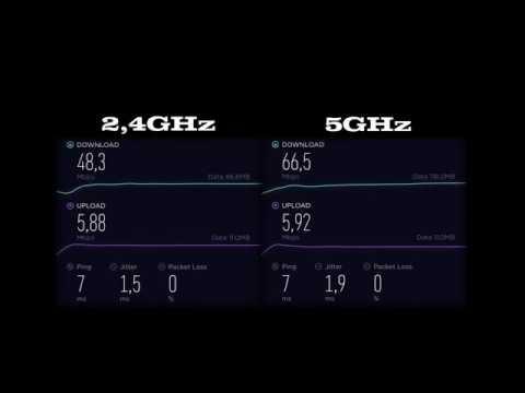 2 4GHz vs 5GHz Network - Speedtest (Modem: Ubee evw3270