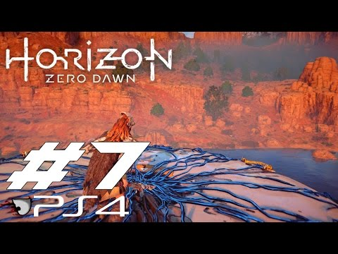 Horizon Zero Dawn Gameplay, Walkthrough - Carja Border Fort, Overide Tallneck (PS4) - Part 7