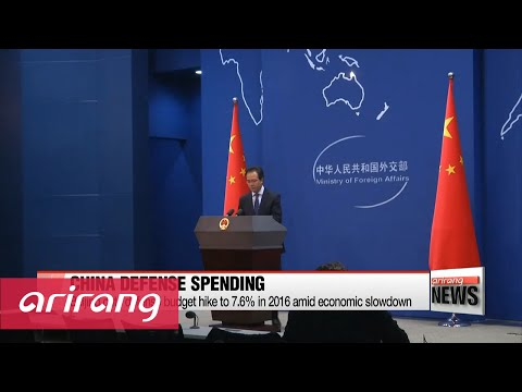 China cuts defense budget hike to 7.6% in 2016 amid economic slowdown