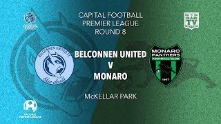 2019 Capital Football Premier League - U20's and 1st Grade Round 8 - Belconnen United v Monaro FC