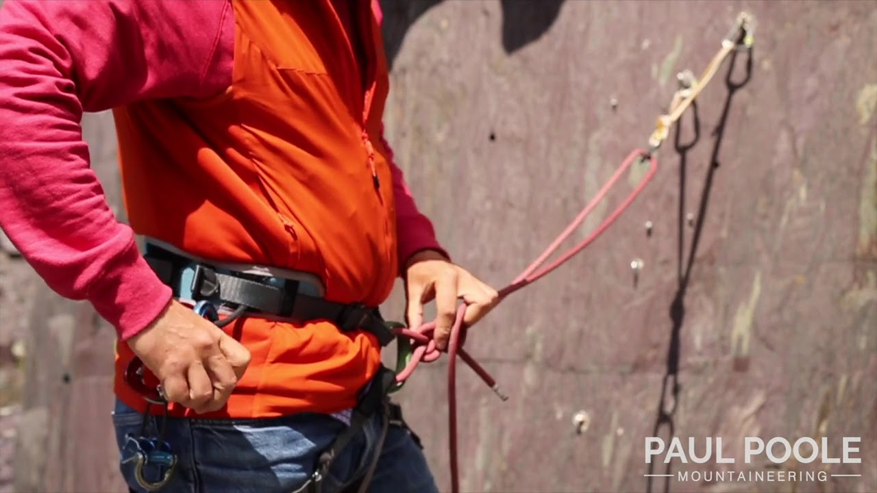 Building a Climbing belay with the rope & sling to 2 anchor points