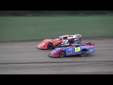 Late Model Heat Race #1 at Crystal Motor Speedway, Michigan on 09-01-2019!