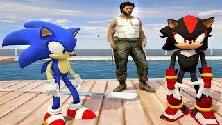 Örümcek Çocuk Sonic'i Kurtarır Logan Wolverine Zombilerin Peşine Düşer (GTA 5 Gerçek Hayat)