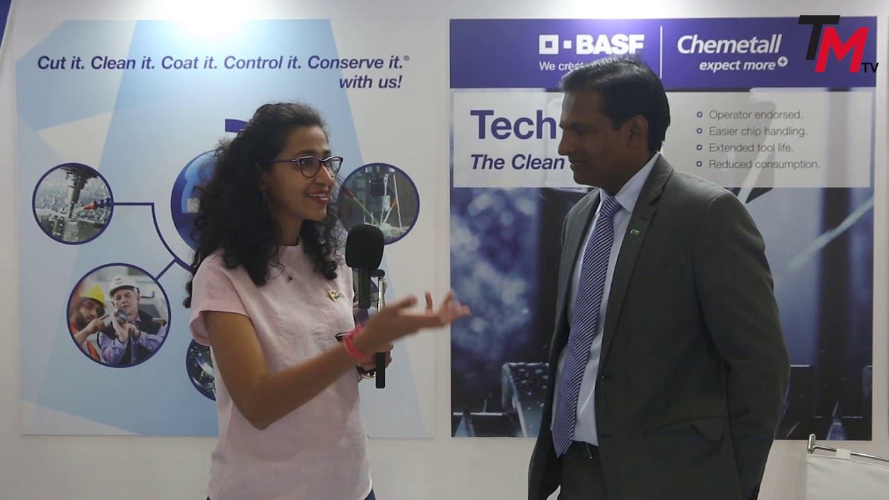 V  S  Anand, Managing Director, Chemetall India, BASF company speaks to The  Machinist at IMTEX 2019