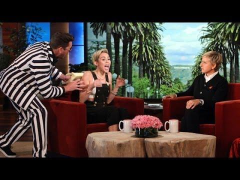 Ellen Scares Miley Cyrus