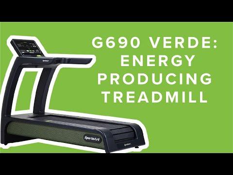 SportsArt's Verde Treadmill - The World's First Energy Producing Treadmill