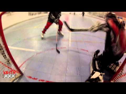 Keith Cam - Haileys Vs Jersey Scum 2/17 Goalie In Net Cam