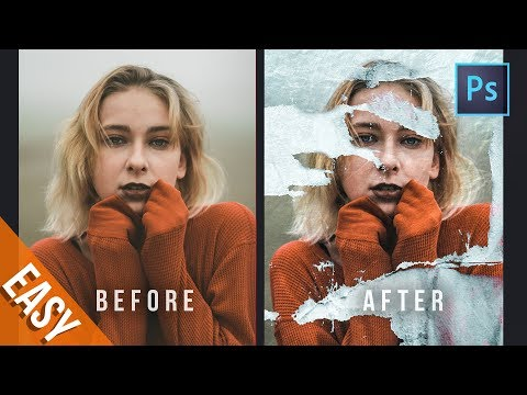 [Photoshop Tutorial] how to make Torn Paper Effect instantly