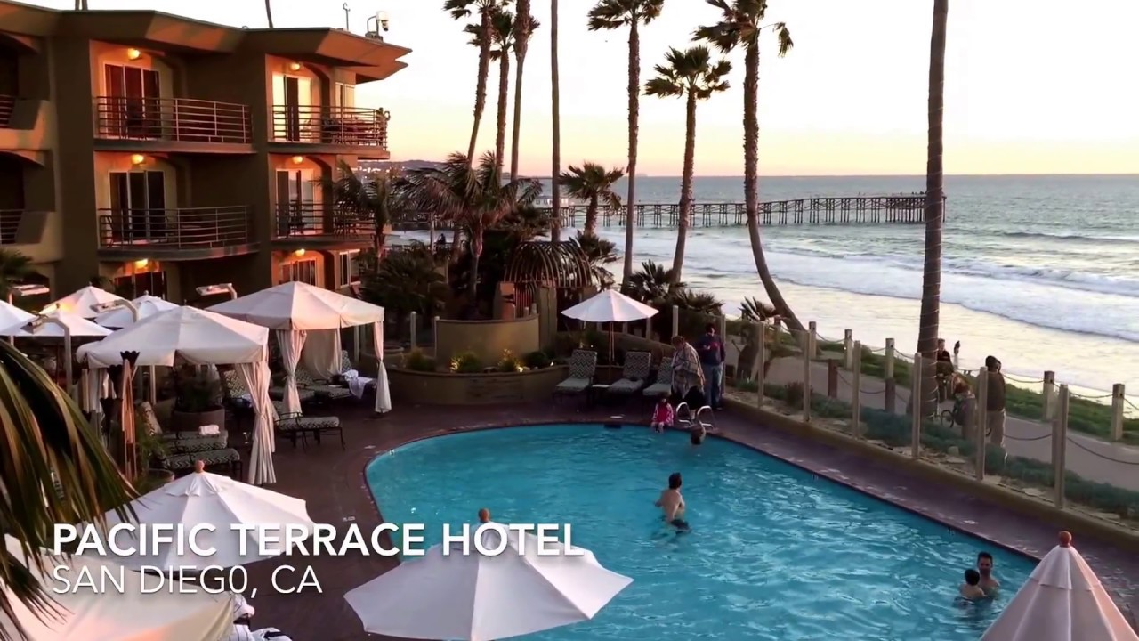san diego beach hotel pacific terrace hotel youtube. Black Bedroom Furniture Sets. Home Design Ideas