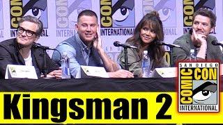 KINGSMAN: THE GOLDEN CIRCLE | Comic Con 2017 Full Panel (Channing Tatum, Taron Egerton, Colin Firth)